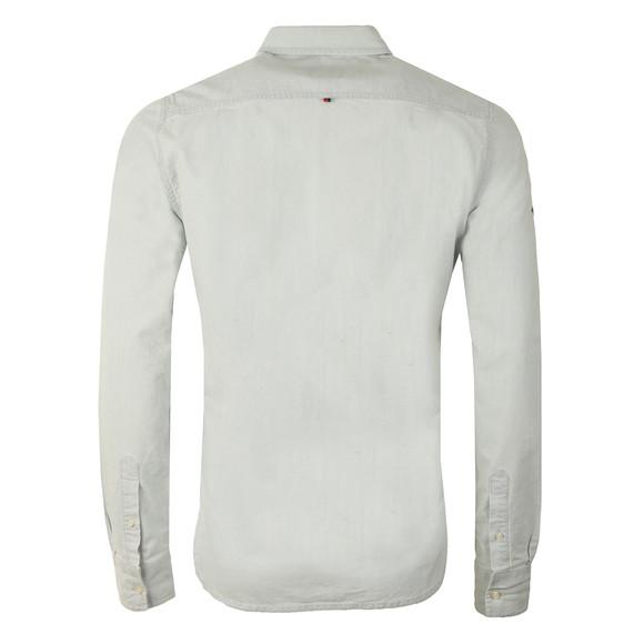 Superdry Mens Blue L/S Indigo Loom  Oxford Shirt main image
