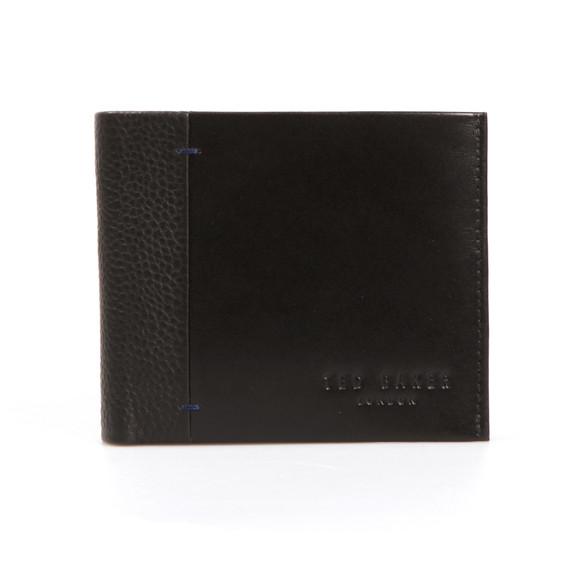 Ted Baker Mens Black Contrast Spine Leather Wallet main image