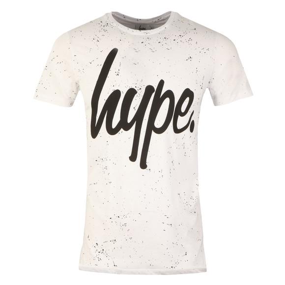 Hype Mens White AOP Speckle T-Shirt main image