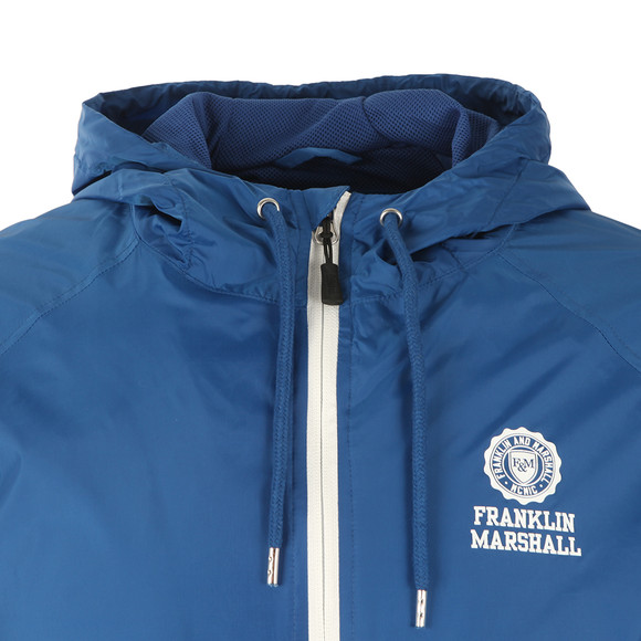 Franklin & Marshall Mens Blue Lightweight Hooded Jacket main image