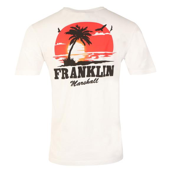 Franklin & Marshall Mens White Sunset Crew T-Shirt main image