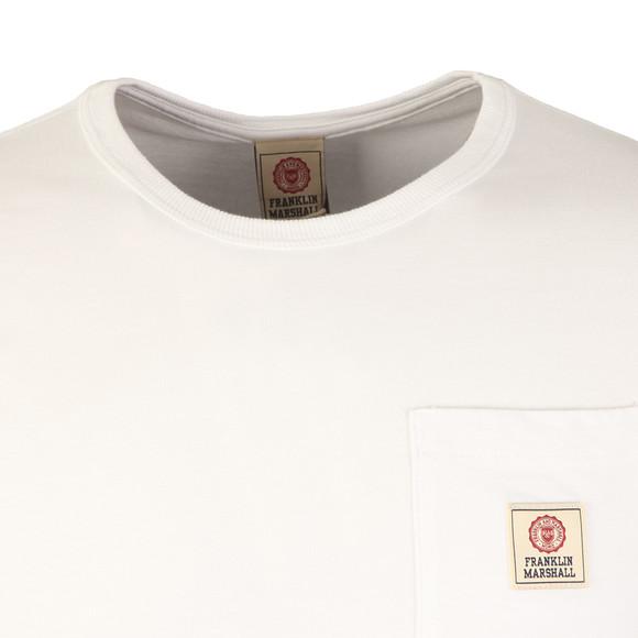 Franklin & Marshall Mens White Round Neck Jersey Pocket T-Shirt main image
