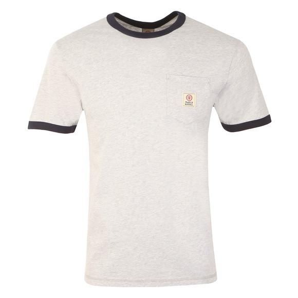 Franklin & Marshall Mens Grey S/S Crew Pocket T-Shirt main image