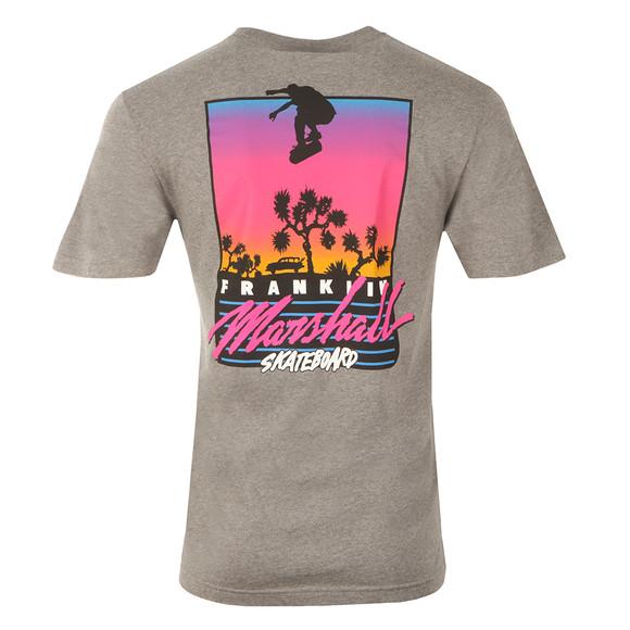 Franklin & Marshall Mens Grey Skateboard Crew Neck T-Shirt main image