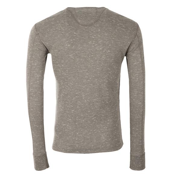 Superdry Mens Grey Heritage LS Grandad T-Shirt main image
