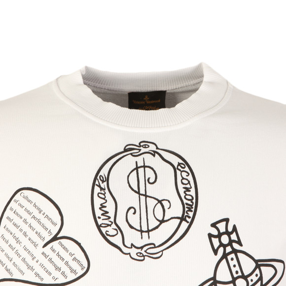 Vivienne Westwood Anglomania Mens White News Logo Mix Sweatshirt main image