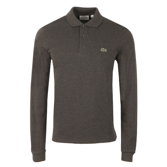 Lacoste Mens Grey L1313 L/S Polo main image