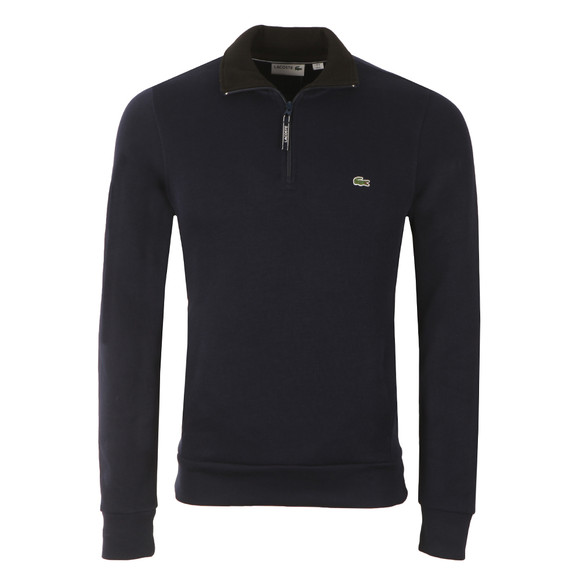 Lacoste Mens Blue Half Zip Sweatshirt SH1925 main image