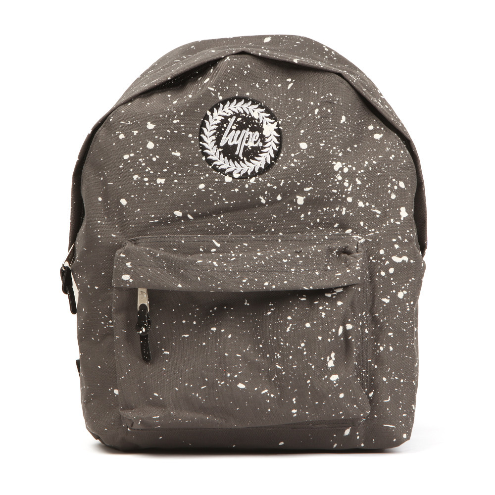 Hype Speckle Backpack.A practical multi purpose backpack that can be used for all occasions. With a zip entry to the main compartment, front zip pocket, adjustable shoulder straps and a all over speckle splattered detail. Completed with the Hype branding to the front.