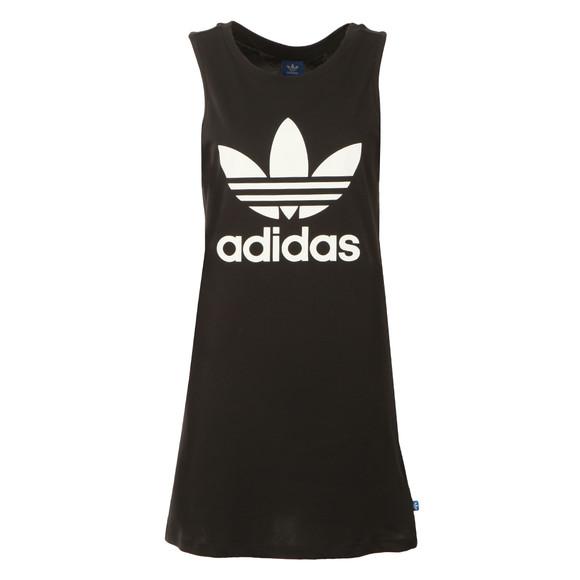 Adidas Originals Womens Black Trefoil Tank Dress main image