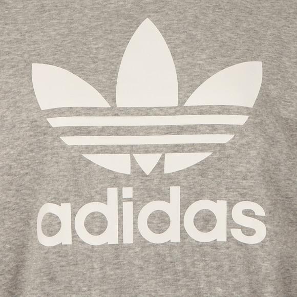 Adidas Originals Womens Grey Trefoil Logo Hoody main image
