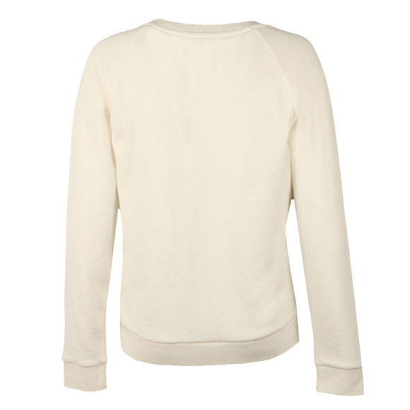 Levi's Womens White Boyfriend Crew Neck Sweat  main image