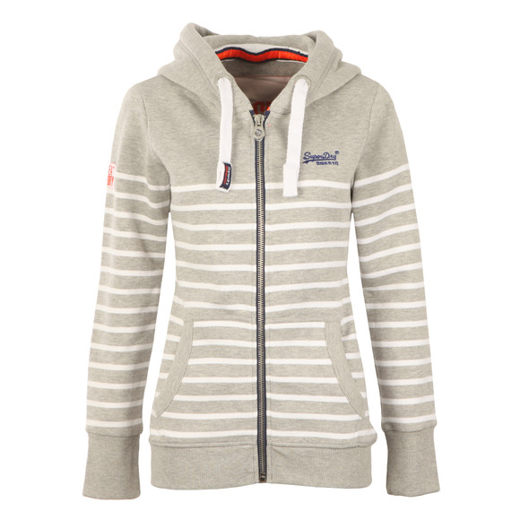 Superdry Womens Grey Sun & Sea Zip Hoody main image