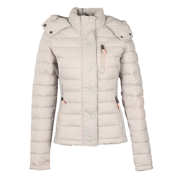 Superdry Womens Grey Fuji Slim Double Zip Hooded Jacket main image