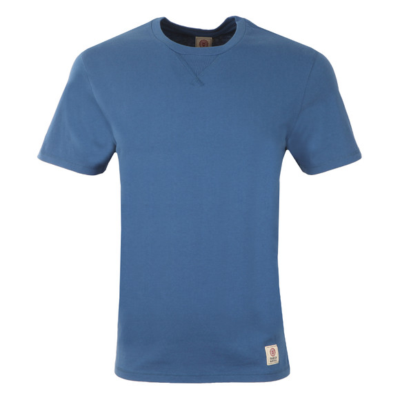 Franklin & Marshall Mens Blue Plain Crew Neck T Shirt main image