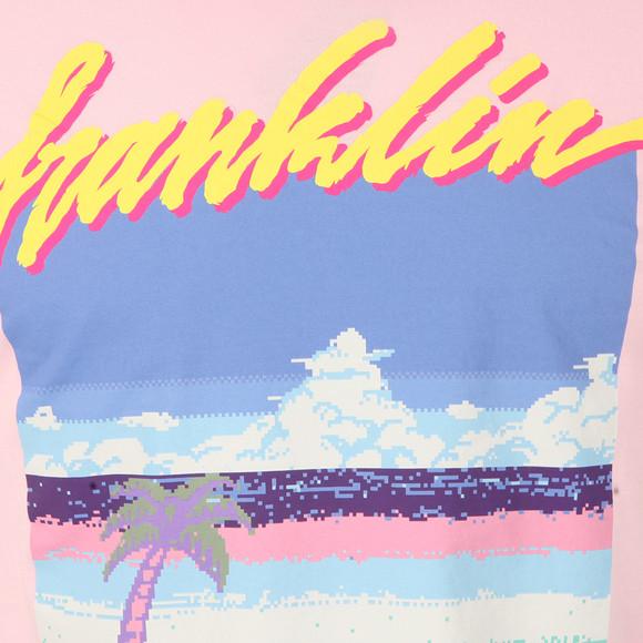Franklin & Marshall Mens Pink Pixel Logo T Shirt main image