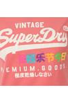 Superdry Womens Pink Premium Goods Rainbow Tee