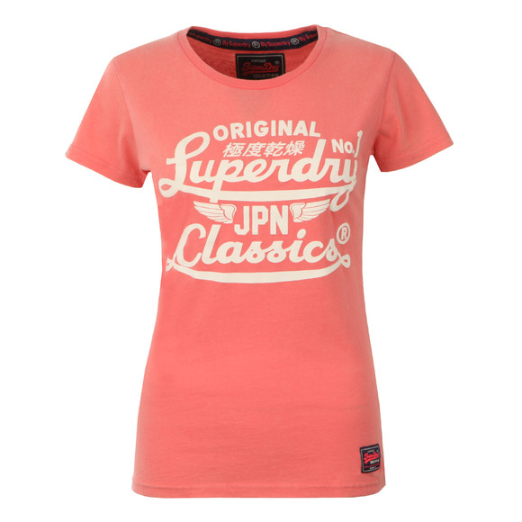 Superdry Womens Pink Icarus Duo Entry Tee main image