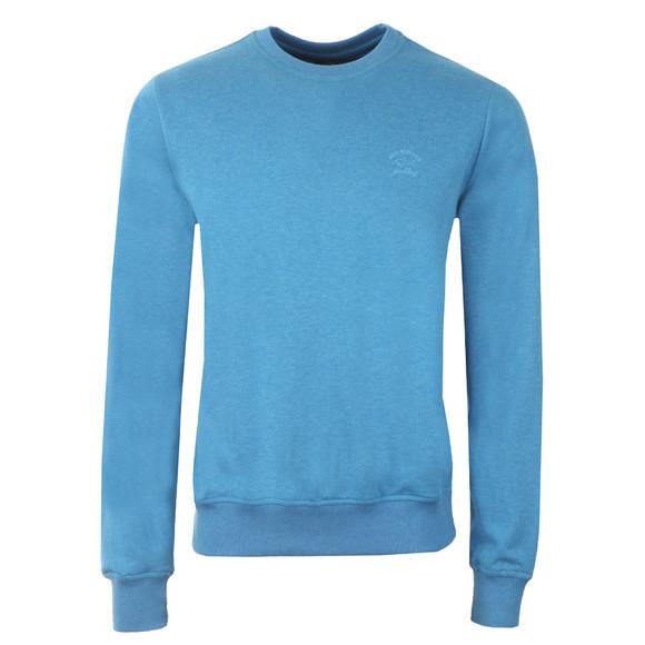 Paul & Shark Mens Blue Small Logo Light Sweatshirt main image