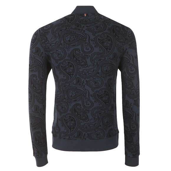 Pretty Green Mens Blue Naseby Paisley Zip Sweat  main image