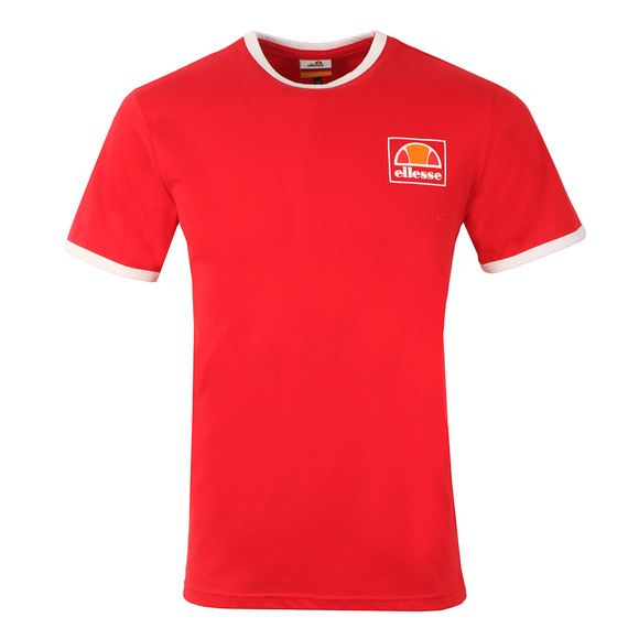 Ellesse Mens Red Montefello Ringer T Shirt main image
