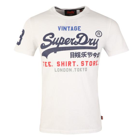 Superdry Mens White Shirt Shop Tee main image