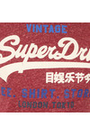 Superdry Mens Red Shirt Shop Tee