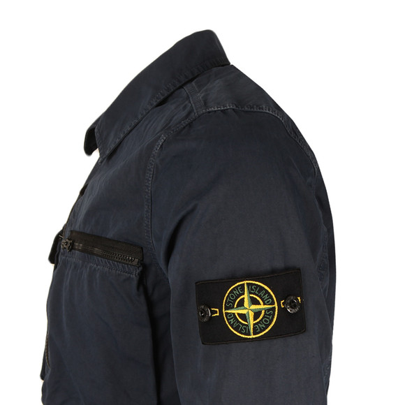 Stone Island Mens Blue Full Zip Overshirt main image