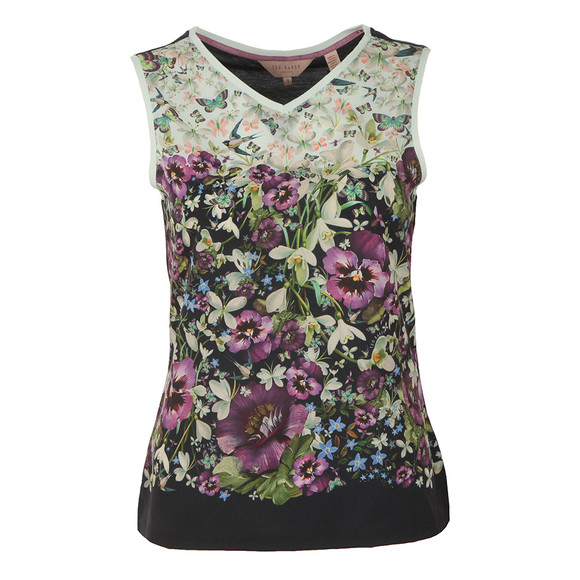 Ted Baker Womens Blue Fatile Enchantment Vest Tee main image
