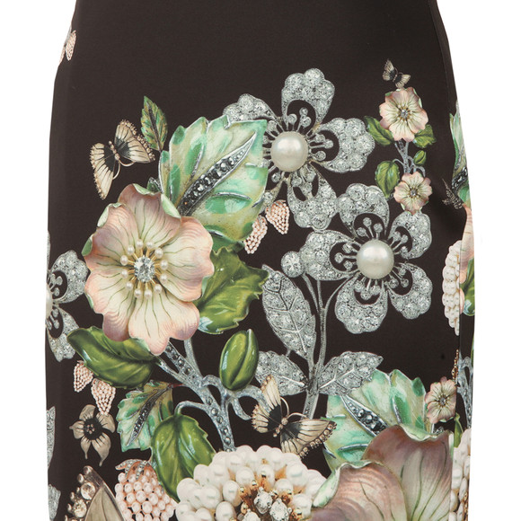 Ted Baker Womens Black Jayer Gem Gardens Bodycon Dress main image