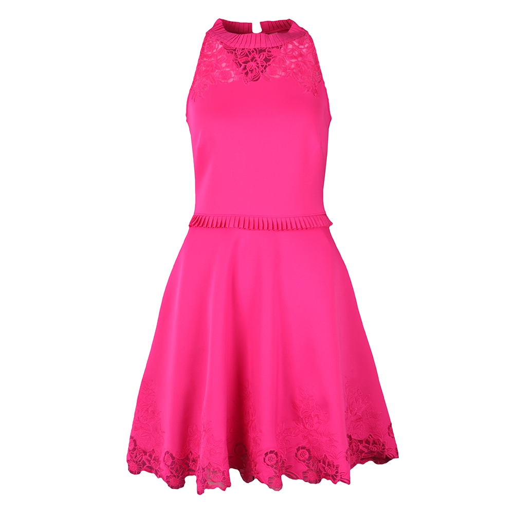 Zaffron Embroidered Skater Dress main image