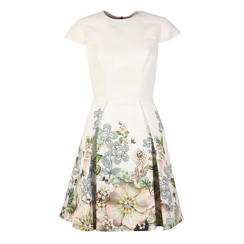 Yvetta Gem Gardens Cap Sleeve Dress main image