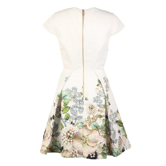 Ted Baker Womens Off-white Yvetta Gem Gardens Cap Sleeve Dress main image