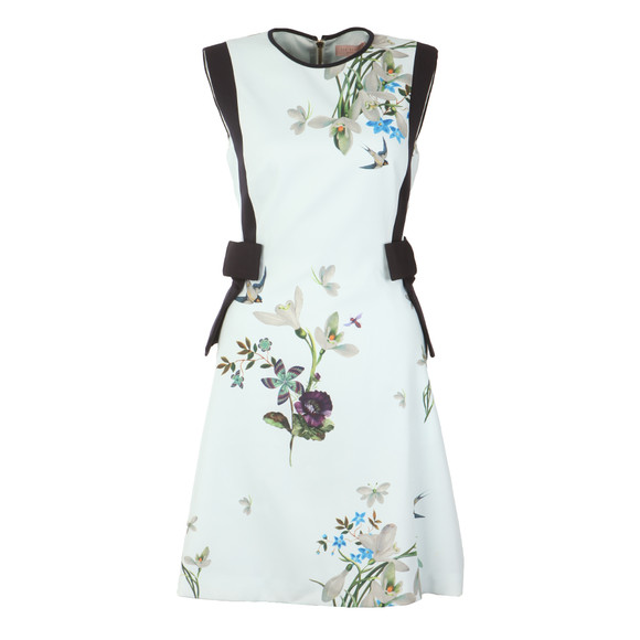 Ted Baker Womens Green Sipnela Spring Meadow A Line Bow Dress main image