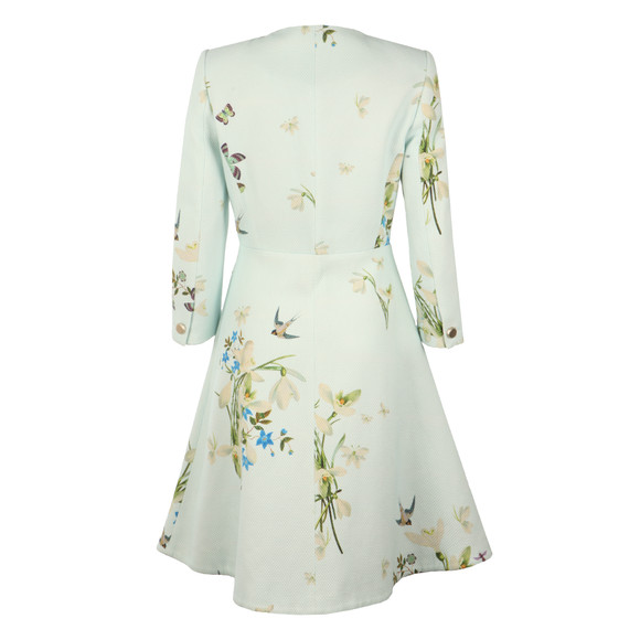 Ted Baker Womens Blue Racheel Spring Meadow Print Coat main image