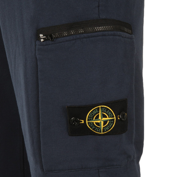 Stone Island Mens Blue Zip Pocket Badge Joggers main image