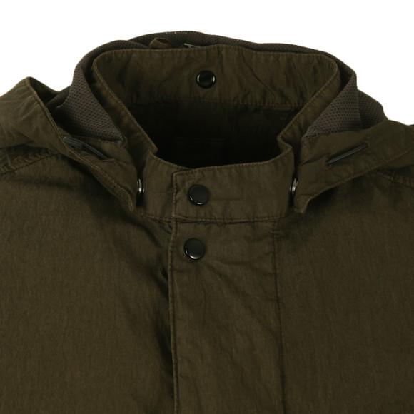 CP Company Mens Green Goggle Hood Overshirt main image