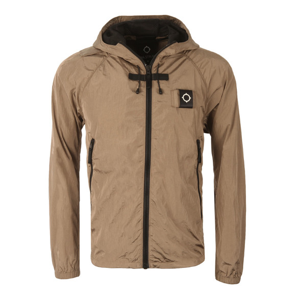 Ma.Strum Mens Beige Stormer Packable Hooded Windrunner main image