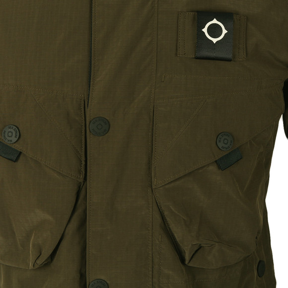 Ma.Strum Mens Green Sultan Bomber Field Jacket main image