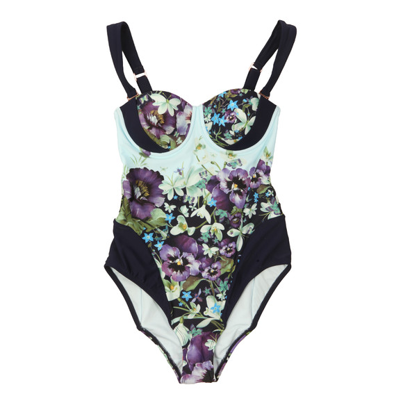 Ted Baker Womens Blue Sirinea Enchantment Cup Swimsuit main image