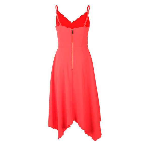 Ted Baker Womens Orange Simbah Scallop Asymmetric Hem Dress main image
