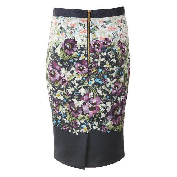 Ted Baker Womens Blue Carpi Enchantment Pencil Skirt main image