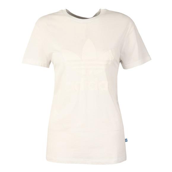 Adidas Originals Womens White Graphic T Shirt main image