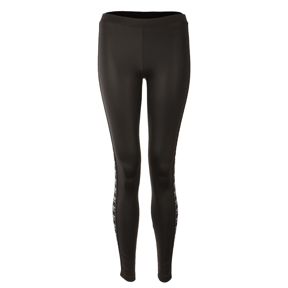 c46218eae58fab adidas Originals Womens Black Taped Logo Leggings