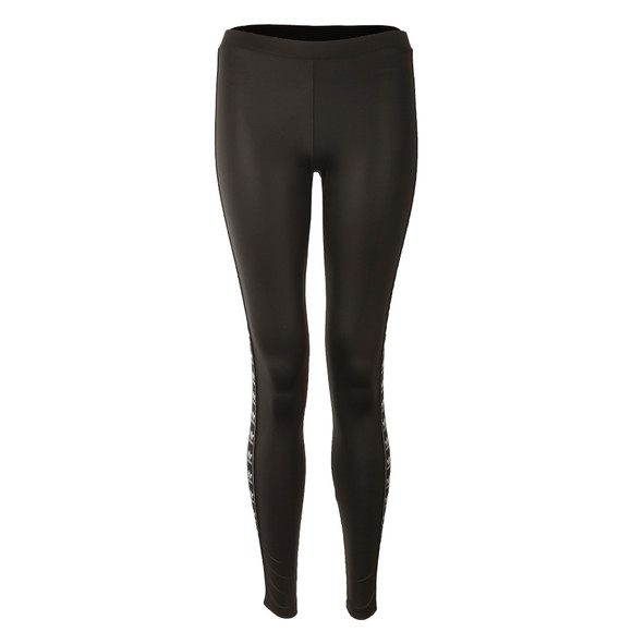 Adidas Originals Womens Black Taped Logo Leggings  main image