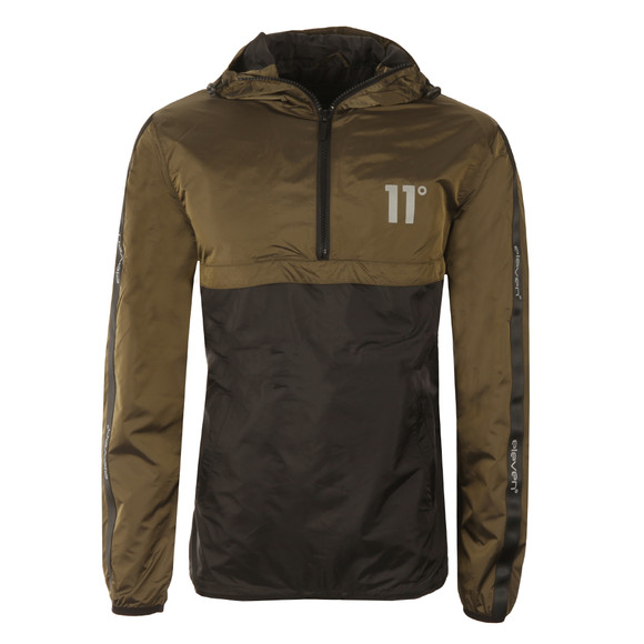 Eleven Degrees Mens Green Over Head Fishtail Jacket main image