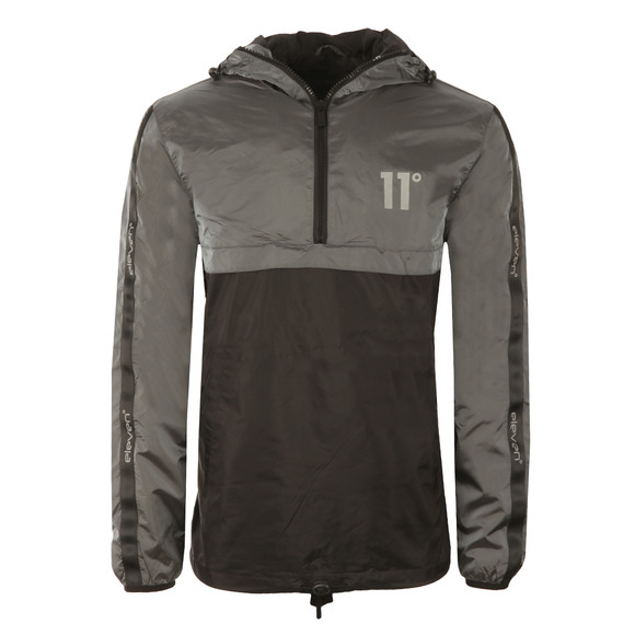 Eleven Degrees Mens Grey Over Head Fishtail Jacket main image