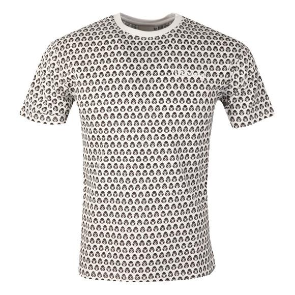 Money Mens White George AOP T Shirt main image
