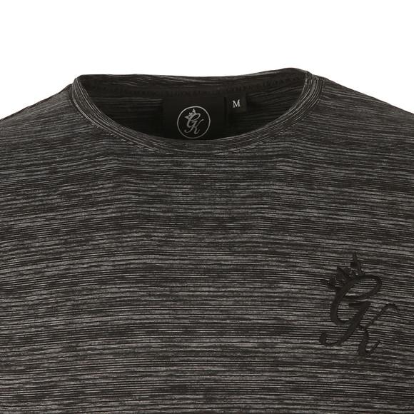 Gym king Mens Black Long Sleeve Fabric Interest Tee main image