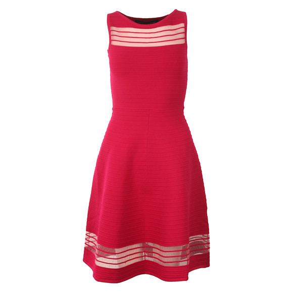 French Connection Womens Pink Tobey Crepe Knit Dress main image